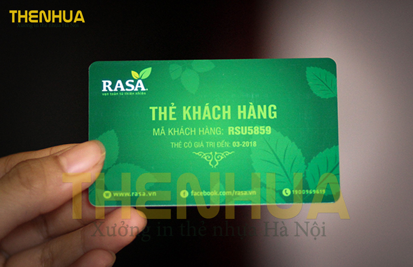 thẻ nhựa hội viên - thành viên
