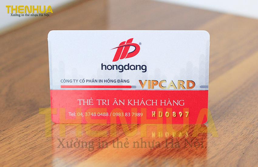 thẻ tri ân khách hàng