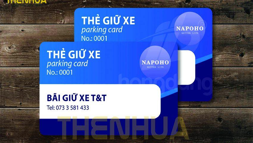 in thẻ giữ xe chất lượng cao