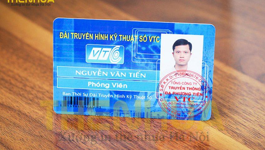thẻ nhựa nhân viên có mã vạch