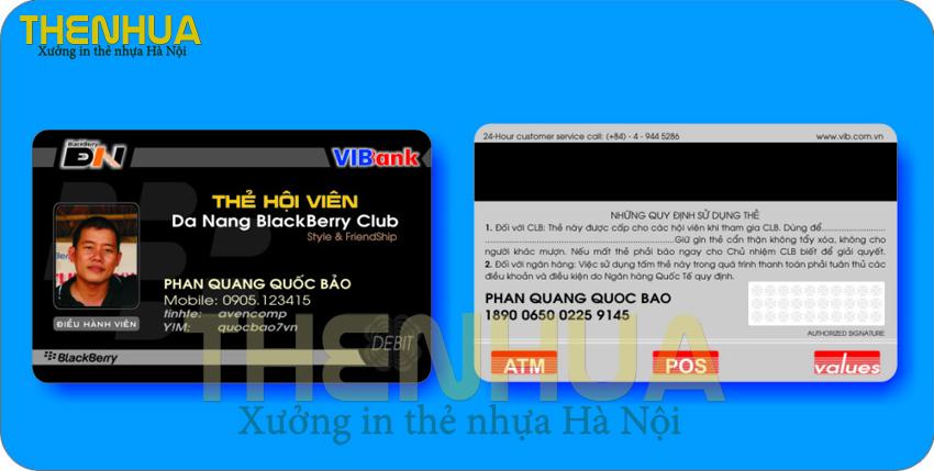 10 mẫu thẻ nhựa cho câu lạc bộ