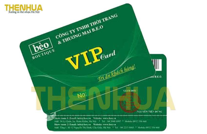thẻ vip hiện đại