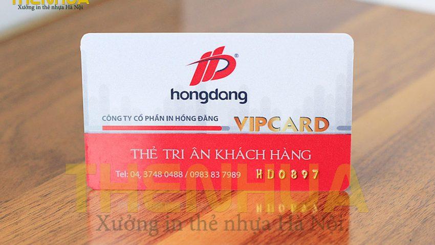 Thẻ nhựa Vip tri ân khách hàng