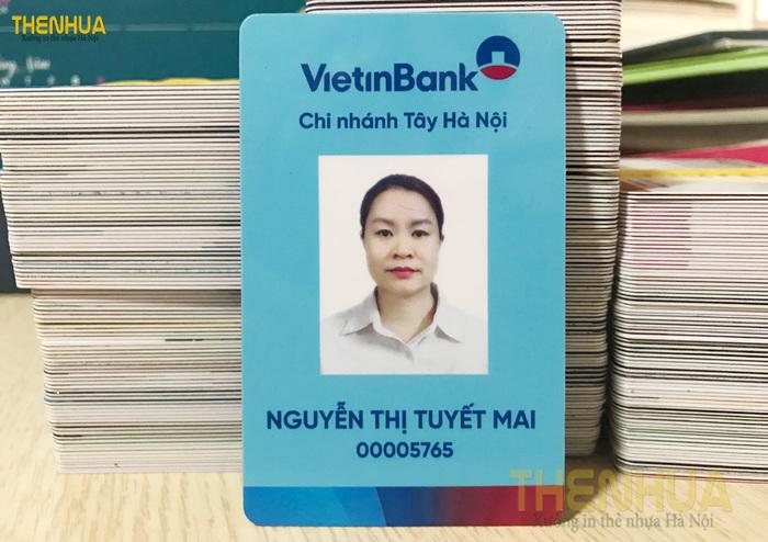 Mẫu thẻ đơn giản của nhân viên Vietinbank