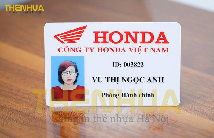 Thẻ nhân viên Honda