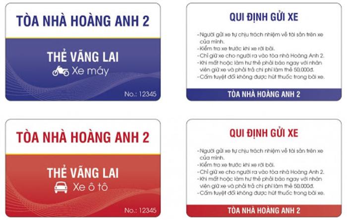 Một mẫu thẻ vãng lai đơn giản cho cư dân