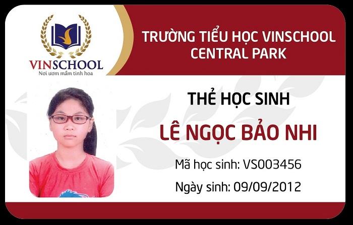 Thẻ học sinh của trường tiểu học Vinschool